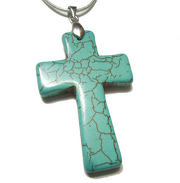 100pcs Turquoise Cross Pendant Charms Pendant Fit DIY Craft jewelry Gift TC1 Free Shipping By DHL