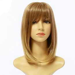 Wholesale new speed buy off the European and American fashion wig Female hair points in partial bobo head fashion fix face female wig