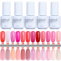 Wholesale Good quality Gelish Nail Polish UV Gel Soak Off Gel Polish Nail Lacquer Varnish Brand New Top Quality Long lasting Colors Color ml