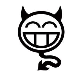 Nuevo Producto Shocker Devil Smilie Car Styling Personalidad Humorística Pegatina de coche Vinyl Decal Monster Smiling Face