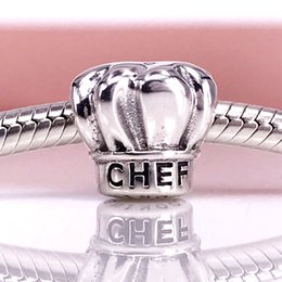 Authentic 925 Sterling Silver Chefs hat silver charm Fit DIY Pandora Bracelet And Necklace 791500