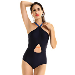 Wholesale European Shark Sexy Wisp Air Integrated High Waist Swimwear Hanging On My Belly Self cultivation Swimming Suit