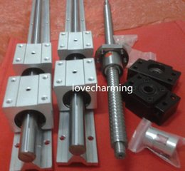 Wholesale 2 x SBR20 mm linear rail guides sets RM1605 mm End Mechined Ball Screws BK BF12 end support couplers