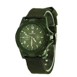 Reloj del ejército suizo deporte militar en Línea-RELOJ MILITAR del ESTILO del ESTILO del DEPORTE SUIZO análogo de lujo nuevo de la ARMY de la manera para el reloj de los HOMBRES, negro, verde, relojes azules Libere la nave