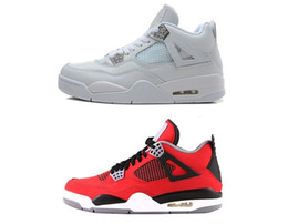4 Classic 4s basketball sneakers IV toro bravo fear pack men women bred high top thunder military blue US sizes 5.5-13