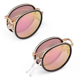 Descuento gafas de sol púrpura 2017 Gafas de sol piloto para hombres Gafas de sol oculos Gafas de sol excelentes calidad Metal plegable Fram púrpura UV400 lente