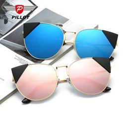 2017 gafas de sol púrpura 2017 GIRL Exaggeration Gato Gafas de sol Gafas de sol Mujer Marca Diseñador Medio Marco Diamante Gafas de sol Azul Púrpura Gris Golg Rosa Plata gafas de sol púrpura promoción