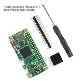 Basis Kit for Raspberry Pi Zero Wireless, transparent case,GPIO 40 PIN Header,Heatsink and Screwdriver