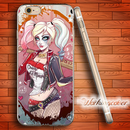 Capa Harley Quinn Wholesale Soft Clear TPU Case for iPhone 6 6S 7 Plus 5S SE 5 5C 4S 4 Case Silicone Cover.