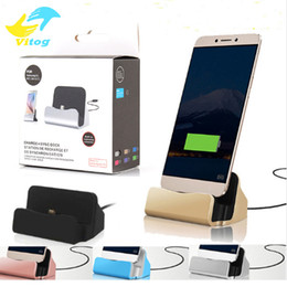 Wholesale Quick Charger Docking Stand Station Cradle Charging Sync Dock With Retail Box For Type c iPhone Plus For Samsung S6 S7 S8 edge Note