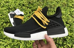Wholesale personality Pharrell Williams Shoes NMD Human Race Mens Womens Running Training Sneakers Discount cheap Best Quality NMD Human race Shoe