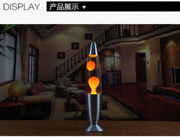 Wholesale Classic Silver Based Lava Lamp Factory direct sales inch metal bottom wax lamp creative decorative jellyfish lava lamp