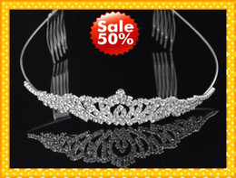 Fashion Headband Hair Clips Crystala Jewelry Bridal Hair Wedding Brides Romantic Cheap Rhinestone Wear Beautiful Good Sell
