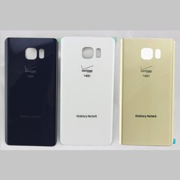 Wholesale Original Battery Back Housing Door Glass Cover for Samsung Galaxy Note Verizon N920V Replacement Part with Adhesive
