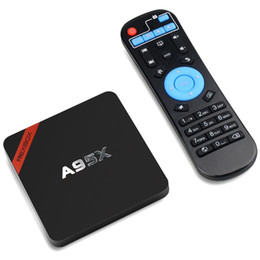 Wholesale Android TV Box A95X Android Amlogic S905X Quad core G G G KD16 Pre installed Wifi Media Player Up