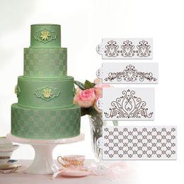 Princess Lace Cake Stencil Set, Cake Craft Stencils,Cake Border Stencils Set, Wedding Decorating cake stencil, Fondant Decotration ST-219