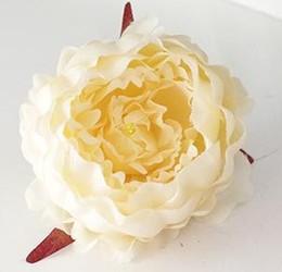12cm high quality Simulation peony flower head wedding silk flower DIY large decorative artificial flowers