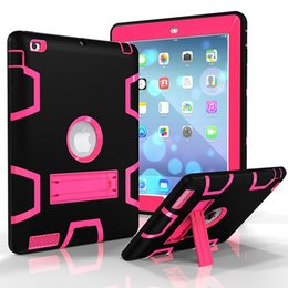 For ipad air ipad 1234 3 in 1 Defender waterproof shockproof Robot Case military Heavy Duty silicon cover