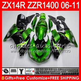 Body For KAWASAKI NINJA ZZR1400 14 R ZX14R 06 07 08 09 10 11 63HM5 ZZR Stock green 1400 ZX-14R ZX 14R 2006 2007 2008 2009 2010 2011 Fairing