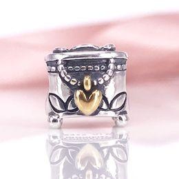 Authentic 925 Sterling Silver PANDORA's box Charm Fit DIY Pandora Bracelet And Necklace 791019