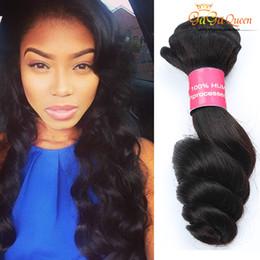 7aBrazilian Virgin Hair Loose Wave 4 Bundles Gaga Queen Hair Extensions Brazilian Hair Double Weft 100%Unprocessed Human Weaves Dyeable