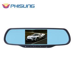 """Acheter en ligne 8gb tactile-Voiture radio mp3 usb Phisung 5.0 """"Touch Dual cam voiture DVRS avec 1 Go de RAM 8 Go ROM WiFi FM GPS Navigation Bluetooth voiture Kits"""