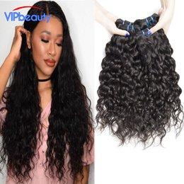 Promotion vague d'eau armure bouclée VIPbeauty cheveux vierges péruviens vague d'eau 4 paquets de paquets de cheveux humains péruviens Mink Water Wave Virgin Hair Curly Weave