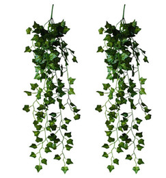 2 Pieces Artificial Hanging Ivy Vine Leaves Garland Fake Foliage Flowers Home Garland Decor