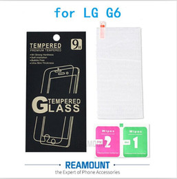 9H Premium Real Proof Tempered Glass Film Guard Screen Protector for LG G6 Protective Screen with Retail Paper Box + Cleaning Tools