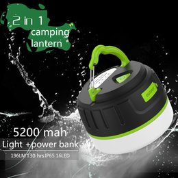 Wholesale coolACC LED Flashlight Camping Lantern Night Lamp with Water and Shock roof Camping Light rechargeable battery camping ligth LP5
