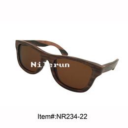classic brown lenses ebony wood sunglasses