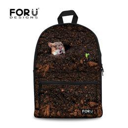 Wholesale Kids Novelty Backpacks - FORUDESIGNS New Preppy Style Novelty Animal School Bag Bird Print For Teenager Schoolbag Fashion School Kids Students Backpack