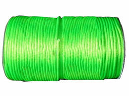 2.5mm Neon Green Rattail Nylon Cord+250m roll Jewelry Accessories Macrame Rope Beading Shamballa Bracelet Chinese Knot Thread