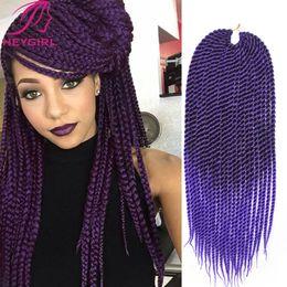Promotion 22 pouces extensions de cheveux longueur En gros-Crotchet Braids 22 pouces de long Kanekalon crochet Twists Hair Box tressage extensions de cheveux 120G / Pack Marley Braid cheveux