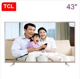 Promotion tv lcd 55 TCL 43 pouces ultra-haute définition de 64 bits 4K HDR Andrews contrôle intelligent voix LED LCD TV à écran plat Livraison gratuite