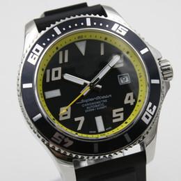 Regarder bracelet en caoutchouc noir en Ligne-AAA qualité de luxe nouvelle marque 1884 montre Brei hommes automatique chronomètre Superocean noir cadran caoutchouc sangle spuer original fermoir montres mens