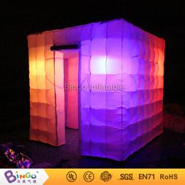 Meilleures lumières de led photo en Ligne-Vente en gros- Livraison gratuite La meilleure qualité Portable gonflable photo cube tente cube gonflable avec conduit éclairage jouet tente
