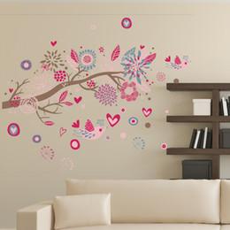 Diy Love Birds Flower Tree Sala De Estar Kids Bedroom Decorativa Wall  Stickers Decoração Para Casa Decal Mural Poster Part 74