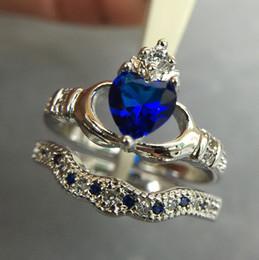 Bague en Aigue-marine en Acier Inoxydable pour Femme cheap gold ring aquamarine à partir de bague en or aquamarine fournisseurs