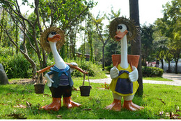 Resin handicraft, cartoon duck has two styles and optional, furniture creative outdoor courtyard landscaping nursery decor decoration crafts