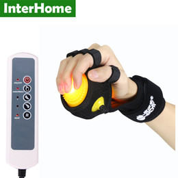 Infrared Hot Compress Hand Massager Ball Massage Hand and Fingers Physiotherapy Rehabilitation Spasm Dystonia Hemiplegia Cerebral Stroke