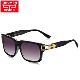 Descuento gafas de diseño fresco Venta al por mayor- TRIUMPH VISION hombres Cool cuadrados gafas de sol hombres al aire libre conducción Lunette diseñador de marca de lujo Shades 2016 Oculos gafas de sol hombre