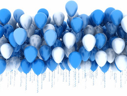 2017 backdrops de vinyle de photographie de bébé 7x5ft Blue Silver Balloons Backdrop Enfants Enfant Anniversaire Party Photographie Backdrops Vinyle Nouveau-né Baby Photoshoot Prop backdrops de vinyle de photographie de bébé offres