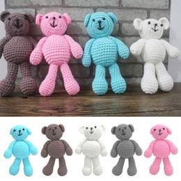 Descuento cute baby accesorios de fotografía Bebé recién nacido Chicos Chicos Crochet Knit Oso Fotografía Fotografía Prop Photo Toy