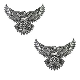Perfect Morale Eagle Embroidery Patch Tattoo Ink Art Design Jacket Patches Biker 28cm*21cm Iron Patch Free Shipping
