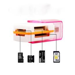 Tout en 1 USB 2.0 Multi Memory Card Reader Adaptateur Connecteur Pour Micro SD MMC SDHC TF M2 Mémoire Stick MS Duo RS-MMC Avec le paquet au détail à partir de adaptateurs duo memory stick fabricateur