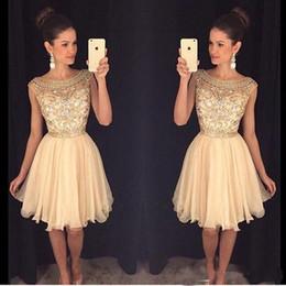 2017 Mini Short Homecoming Dresses Crystal Beaded Sweet 16 Graduation Dresses Little Chiffon Short Cocktail Dress Prom Party Dresses
