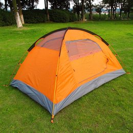 Wholesale 1set Outdoor Tourist double layer season aluminum rod windproof waterproof professional camping tent