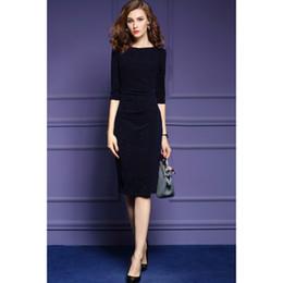2016 hiver nouvelles dames couleur solide robe brillante OL Slim dans le paquet de paragraphe long femmes hanche robe Ville dames de travail professionnel Robes à partir de dame ville fournisseurs