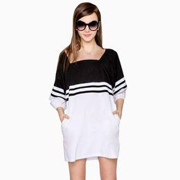 2017 New Loose Summer Women Dress Plus Size Casual Ladies Dresses Beautiful Cheap Moda Praia Elegant Dress Vetements Beach Wear 50F0005